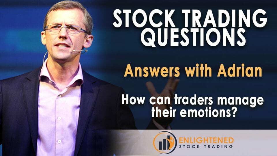 How can traders manage their emotions?