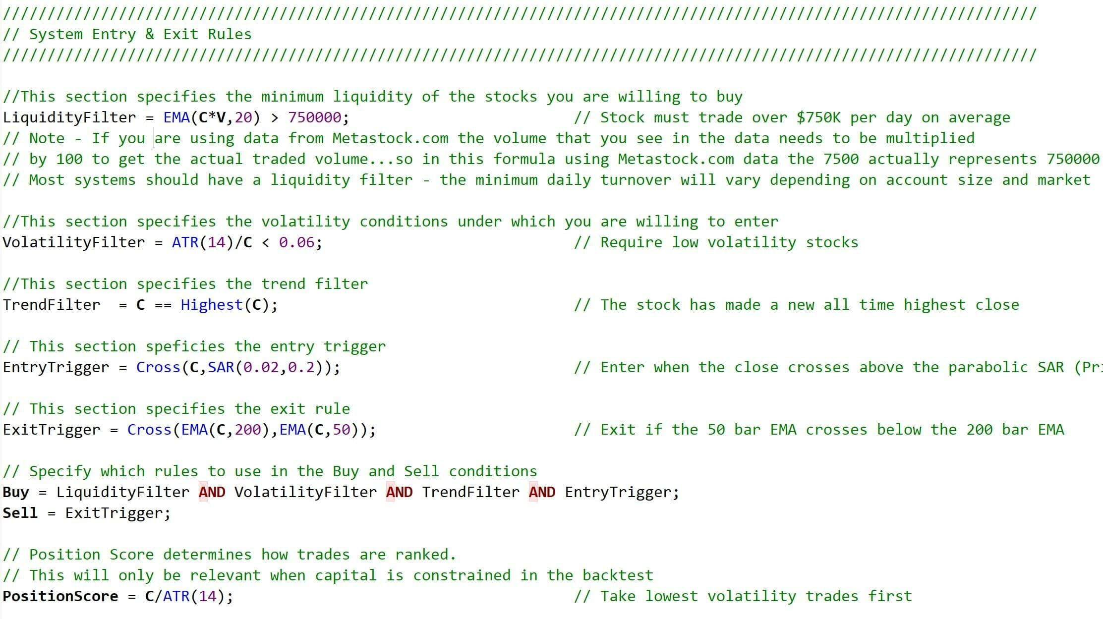 Trading-System-Code-Template