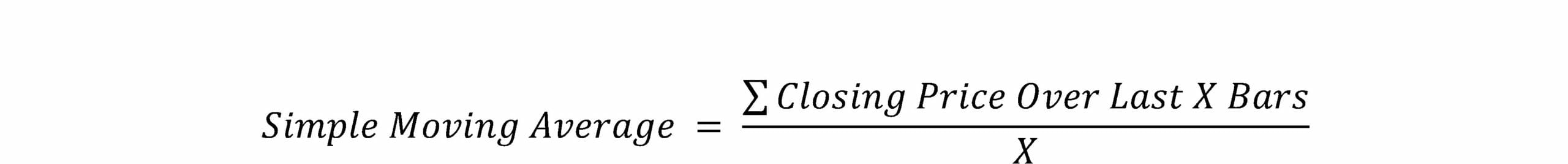 Bollinger Band Formula - Simple Moving Average