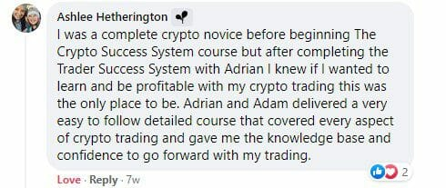 Cryptocurrency trading course - The Crypto Success System - Ashlee Hetherington