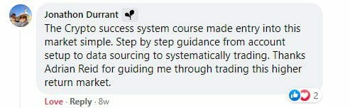 Cryptocurrency trading course - The Crypto Success System - Jon Durrant