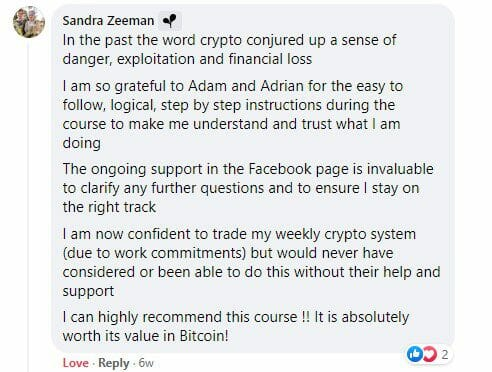 Cryptocurrency trading course - The Crypto Success System - Sandra Zeeman
