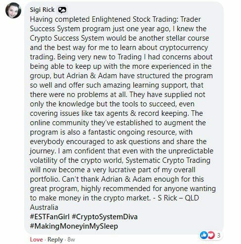 Cryptocurrency trading course - The Crypto Success System - Sigi Rick